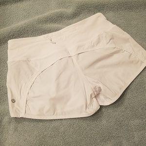 White lululemon running shorts (4)